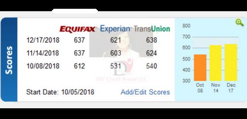 12.17.18 (2) DIY Credit - Credit Repair Results