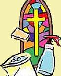 Church volunteer cleaners, Marske Parish Church