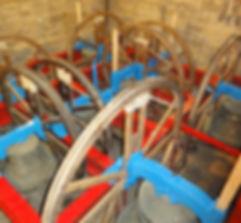 Marske Church Bells, bell frame