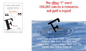 Graphic - A person or team that experiences failure can feel isolated and vulnerable. Lend a hand, find out the facts, and learn from it...