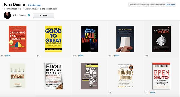 John Danner's recommended books.