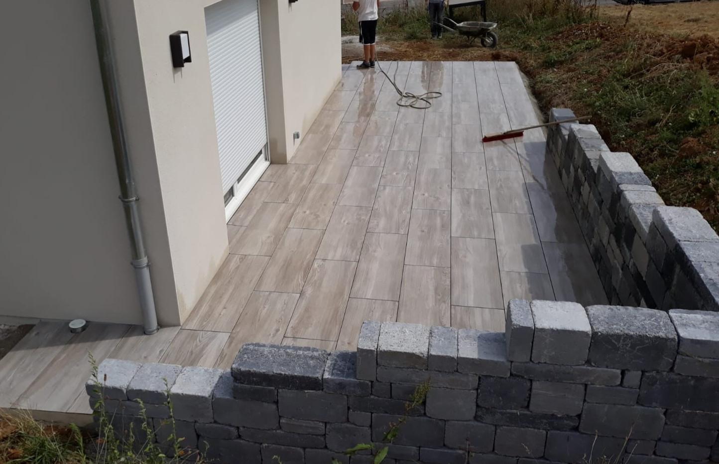 Terrasse en dalles 2