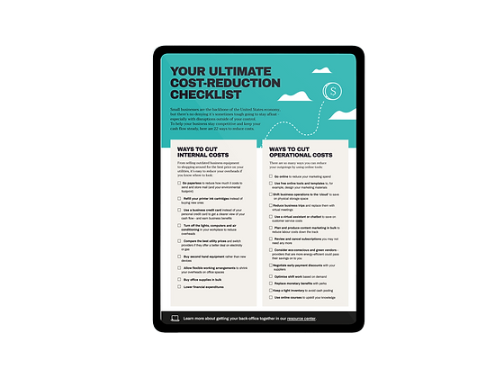 Your Ultimate Cost-Reduction Checklist