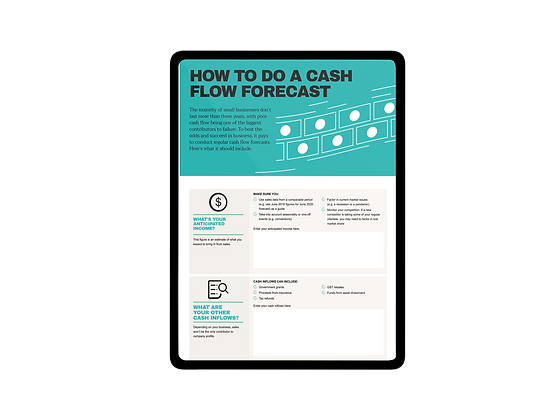 Template: Creating A Cash Flow Forecast