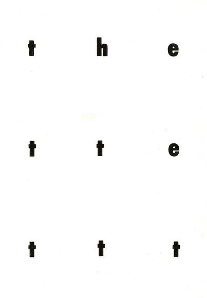 Last Futura Poem (2011)