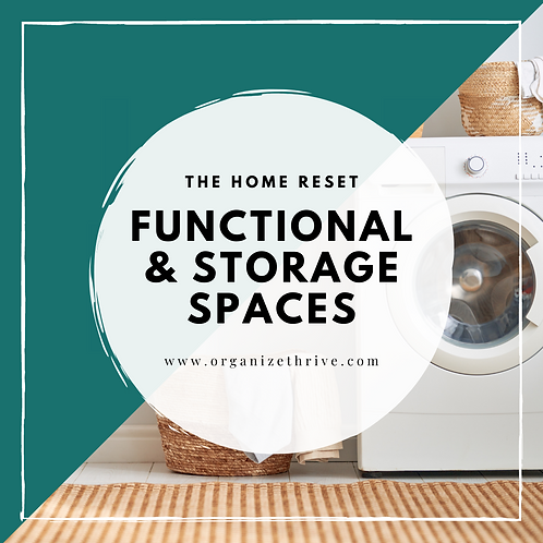 Function and Storage Spaces (Mudroom, Laundry, Garage, Outdoor)