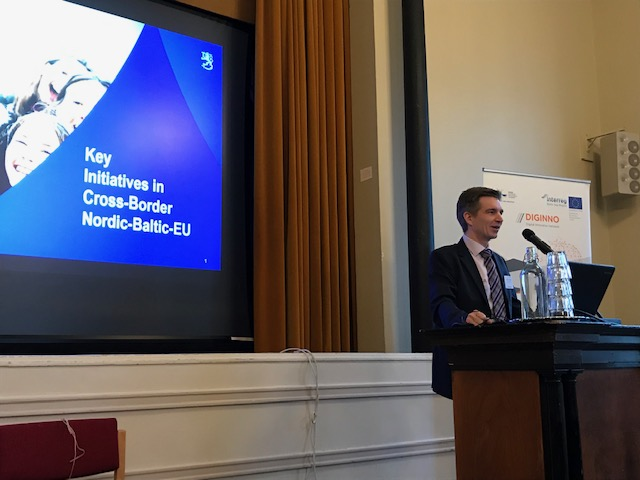 Sami Kivivasara, Head of Unit, Ministry of Finance, Finland presented key initiatives in cross-border interoperability during FIN EU Presidency.