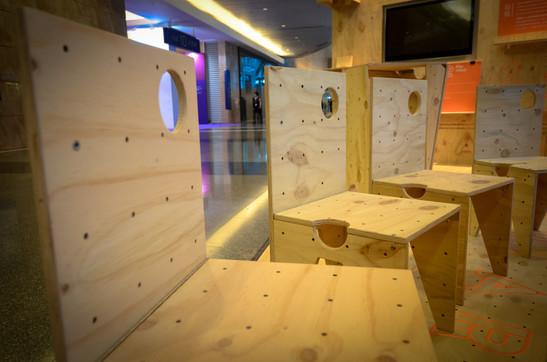 RAAW | Art Basel | Making of AAApavilion | Plywood Custom foldable chair