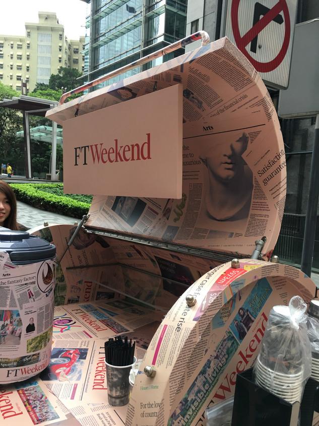 RAAW | Financial Times Mobile Tea Bar | Art Installation