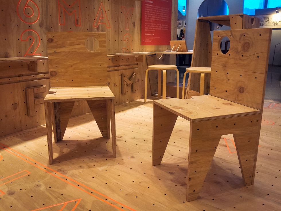 RAAW | Art Basel | Making of AAApavilion | Plywood Custom foldable chair