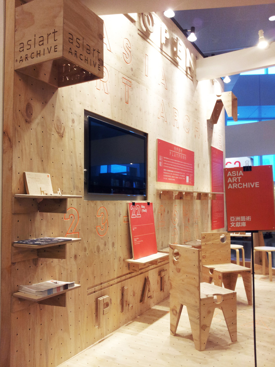 RAAW | Art Basel | Making of AAApavilion Wall with holes, all furnitures can flatpack and hang on wall with screws