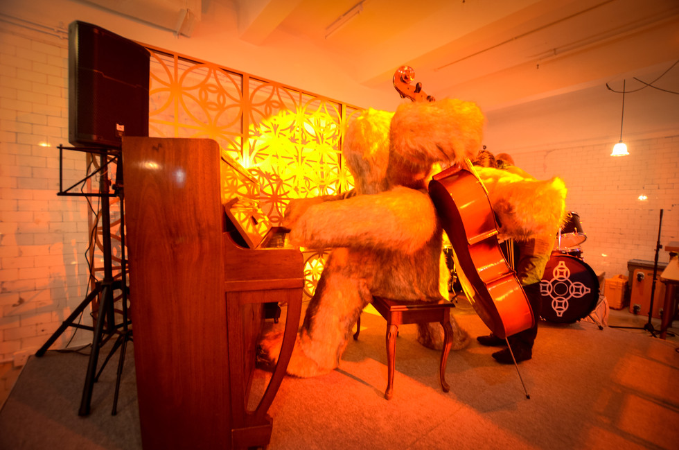 RAAW | Adrain Wong | Absolute Art Basel Art Bar | Art Installation Automatic pianoist doll