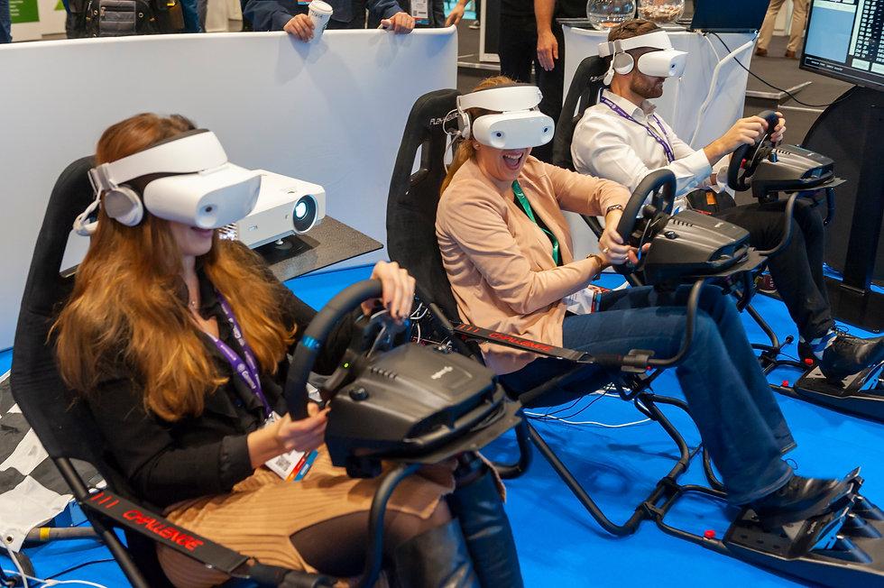 VR exhibition racing simulator fun