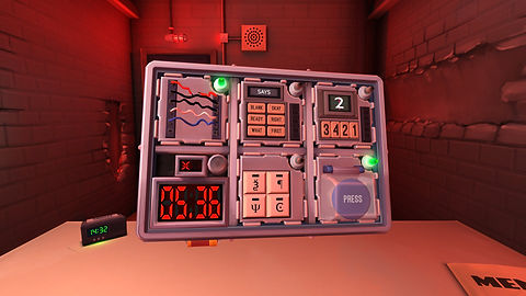 Virtual reality bomb defusal team building