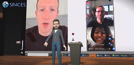 Virtual reality video call - VC