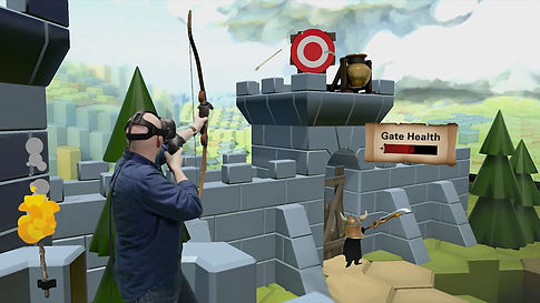 virtual reality archery and fun games