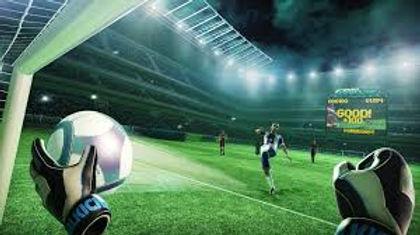 virtual reality football goal keeper fun