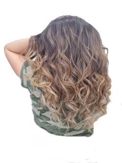 Sunkissed Curly hair