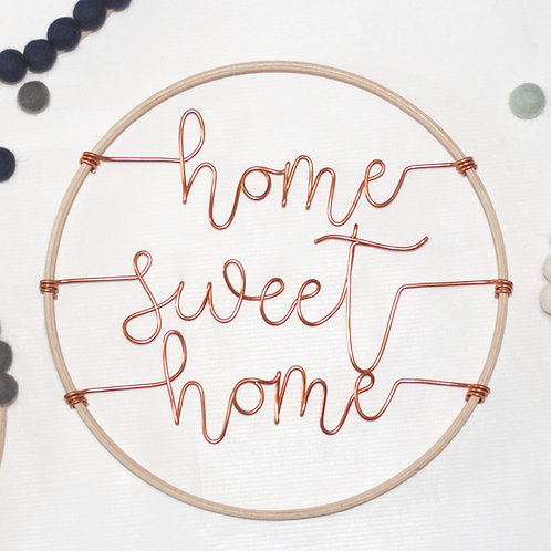 home sweet home; Hoop by Wired Mama