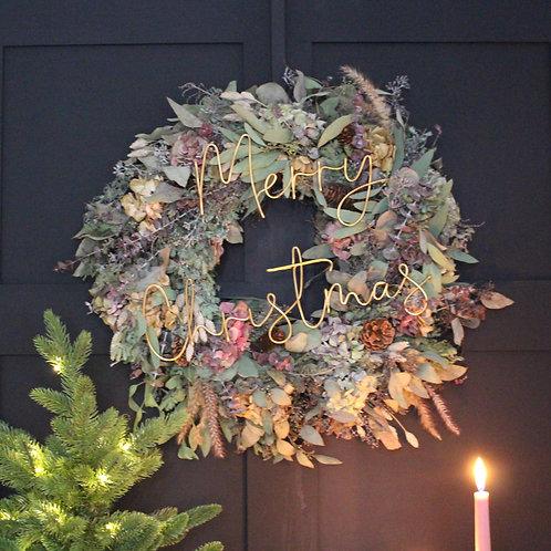 XL Merry Christmas Outdoor Wreath Decoration