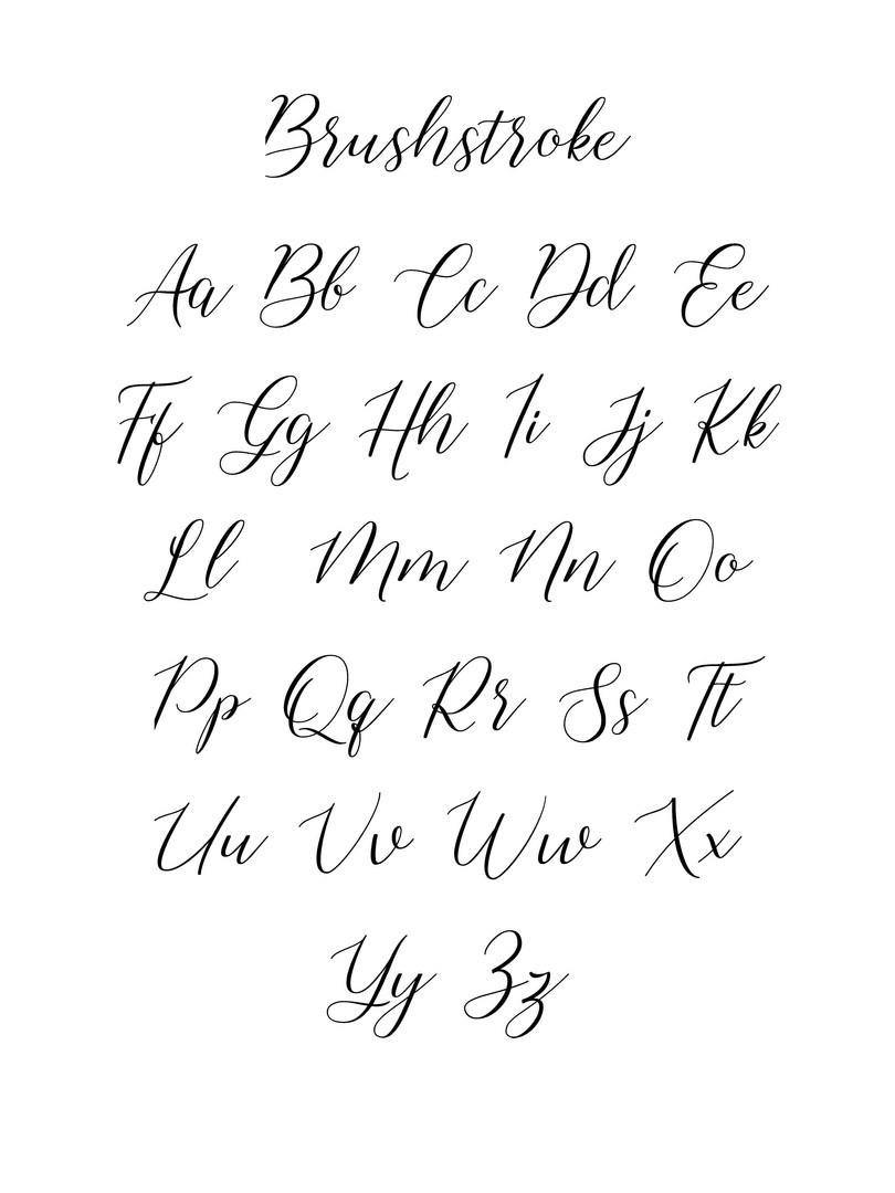 Brushstroke font