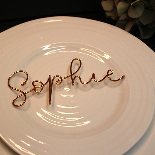 Personalised wire place name decoration