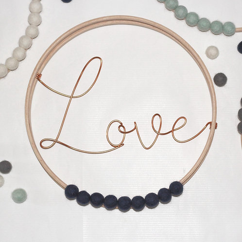 Love; Hoop by Wired Mama
