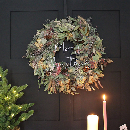 Merry Christmas Outdoor Wreath Decoration