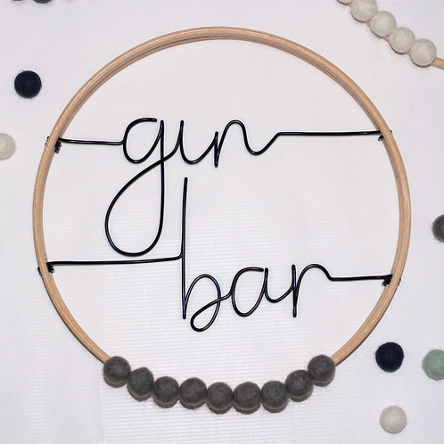 gin bar; Hoop by Wired Mama