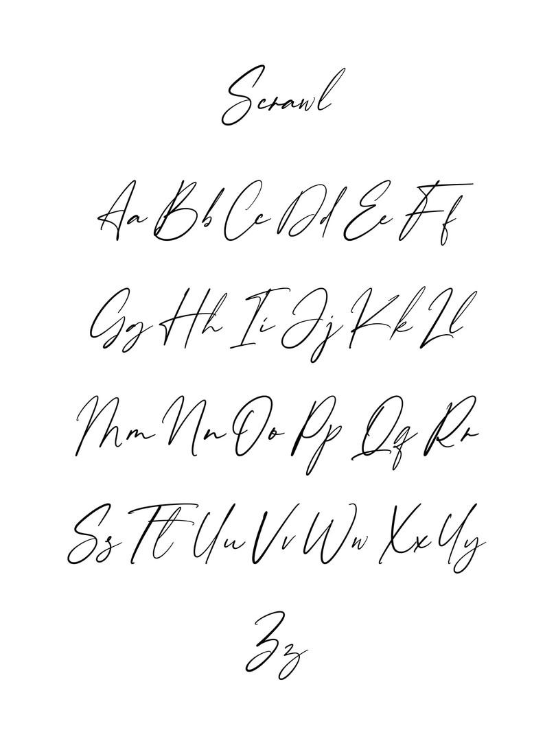 Scrawl Font