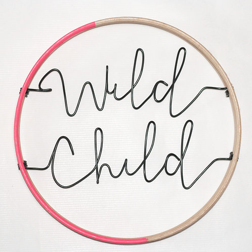 Wild Child; Hoop by Wired Mama