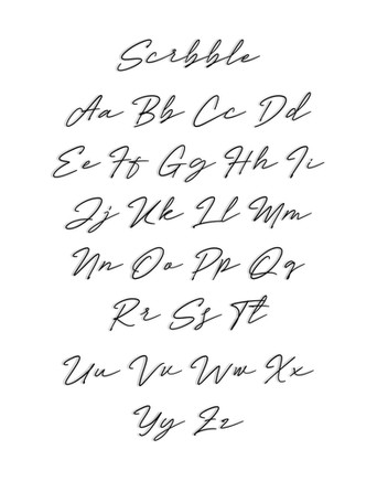 Scribble Font