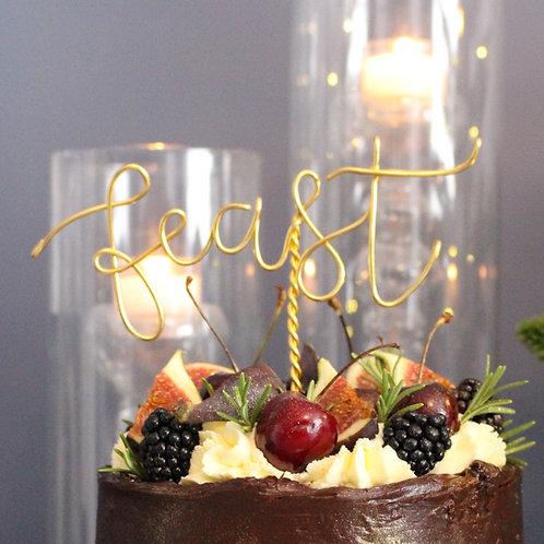 """Feast"" Cake Topper"