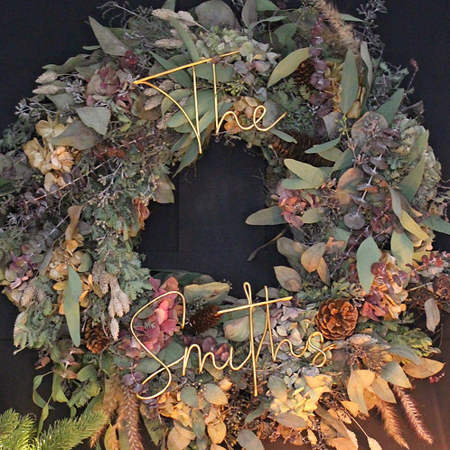XL Personalised Outdoor Wreath Decoration