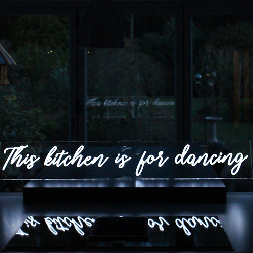 This kitchen is for dancing neon