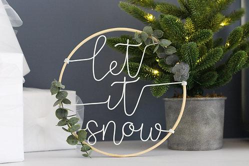 let it snow Wreath 22cm