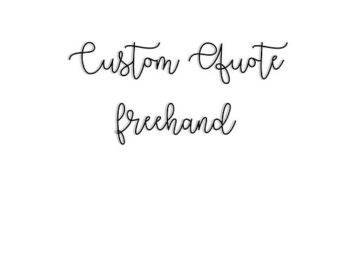 Custom Quote in Freehand