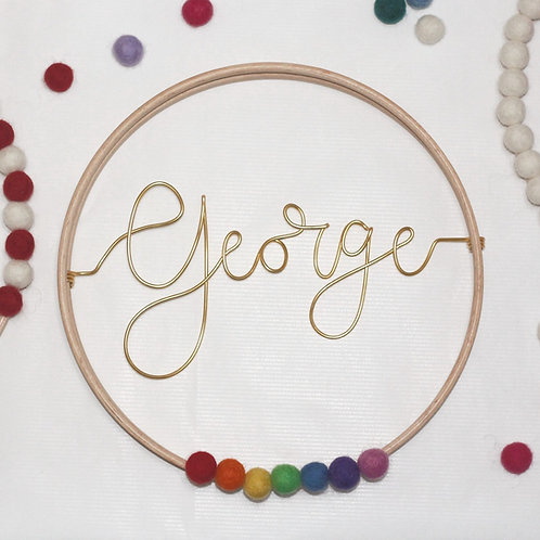 Personalised Name/Word; Hoop by Wired Mama