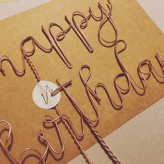 Happy birthday 🥳 cake topper set in Ros