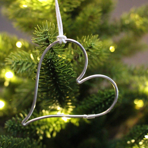 Wire Heart Tree Decoration