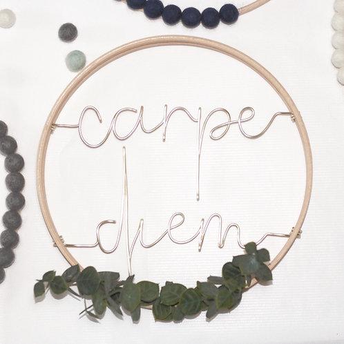 carpe diem; Hoop by Wired Mama