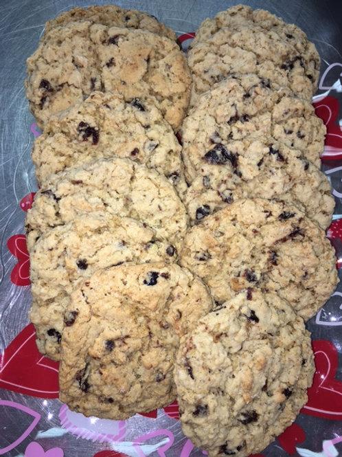 Oatmeal Cookies w/ Dark Cherries