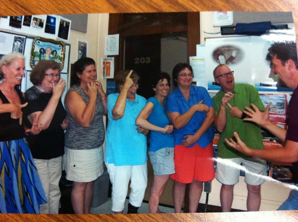 Translation: WOW! DH is powerfully champ! (Indiana School for the Deaf, Summer 2012)