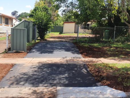 Asphalt Driveway Crossover in Alderley Street, Toowoomba