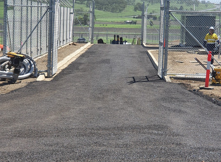 Bitumen Road Construction at Solar Farm, Warwick