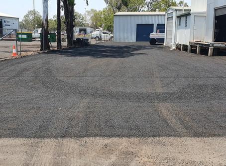 Bitumen Car Park Construction at Dalby Electrics