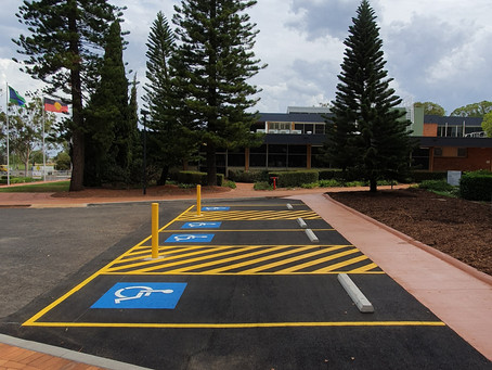 Asphalt Car Park Construction at USQ, Toowoomba