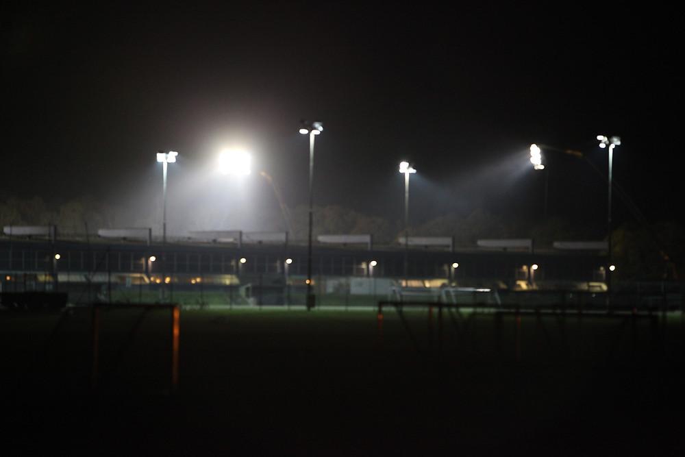 Sundby Idrætspark med mobilt lysanlæg