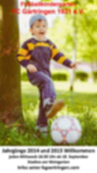 Anzeige Wochenblatt Fussballkindergarten