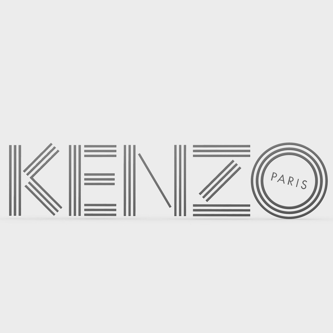 kenzo-logo-3d-model-obj-mtl-3ds-fbx-c4d-